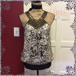 💜Pretty Bebe silk embellished top 💜